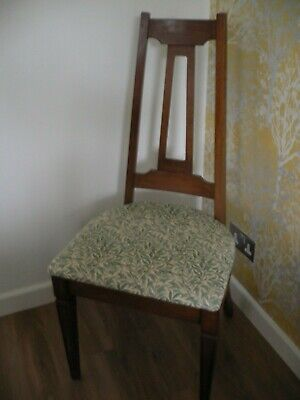 Arts and Crafts style 6 X Dining Chairs William Morris Upholstery