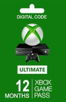 Xbox Game Pass Ultimate, 12 Month Membership, Xbox One Redeem Code