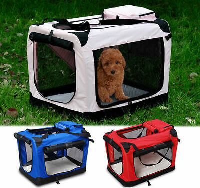 Pet Dog Cat Fabric Soft Portable Crate Kennel Cage Carrier House Bag 4 Size
