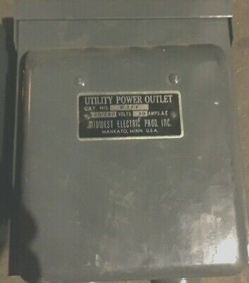 MIDWEST Electric  P-27-F 30 AMPS.AC UTILITY POWER OUTLET *NEW IN BOX*
