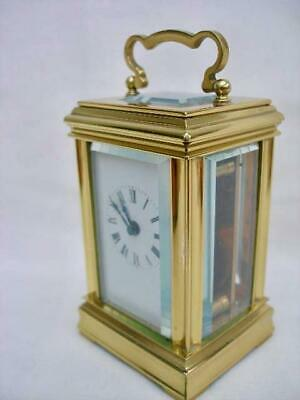 Superb Miniature English 8 Day Gorge Case Brass Carriage Clock By A.C.Gibson.