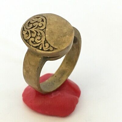 Ancient Ring Bronze Roman Rare Legionary Extremely Old Ring Authentic Artifact