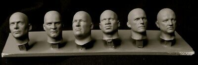 75mm 1/24th scalescale resin 6 x  bare heads set