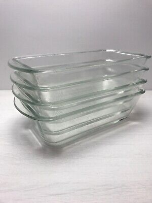 Hostess Trolley Dishes  Glasbake  4 of J522 Made In USA Glass Food Dish