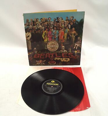 THE BEATLES Sgt Peppers Lonely Hearts Club Band' Vinyl Lp With Psych Inner - W20