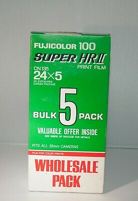 Bulk 5  Fuji Fujifilm Fujicolor Super HRll 100 35mm Film 24. Kodak &CVS film