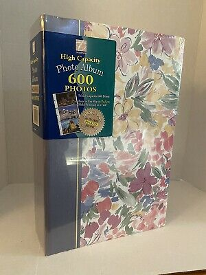 Thompson High Capacity Photo Album for 600 4x6 Prints, Acid Free, Floral, NEW