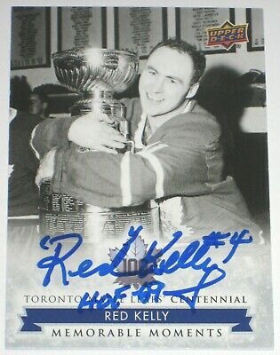 Red Kelly Signed 2017 Upper Deck Toronto Maple Leafs Centennial Sp Card Auto Hof