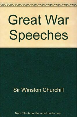 Great War Speeches by Sir Winston Churchill Book The Cheap Fast Free Post
