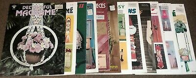 Vintage Macrame 12x Book Lot 1970's to 80's #2