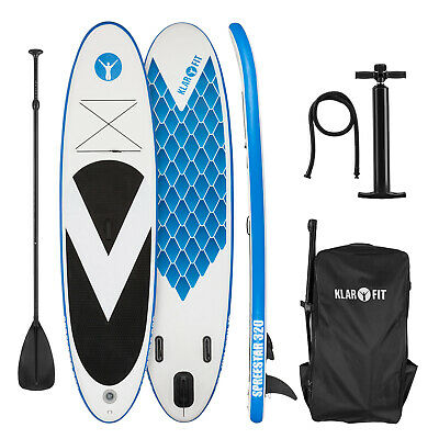 Tabla de paddle surf hinchable SUP Stand up paddle 320x12x81 Board Azul Blanco