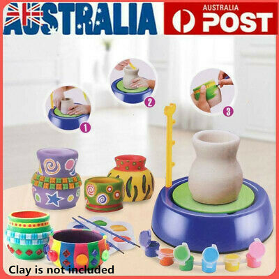 DIY Ceramic Pottery Machine Pottery Wheels Kids Mini Craft Educational Toy Gift