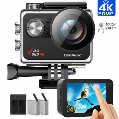 Campark Action Camera 4K WiFi Touch Screen Camcorder Waterproof Sports Cam Kits