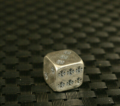 16.2g Chinese old S925 Solid silver hand dice statue collectable unique gift