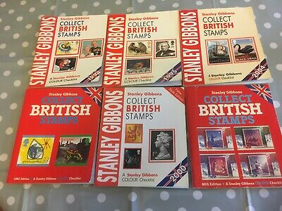 6 X Stanley Gibbons Collect British Stamps Colour Checklist Booklets