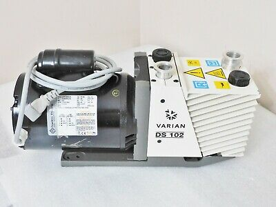 Varian Ds102 Dual Stage Rotary Vane Vacuum Pump 3.5 Cfm Good Working Condition
