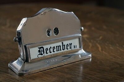 Perpetual Desk Calendar a stylish accessory .always know the day and date .