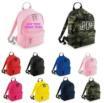 kids childrens Mini Fashion Backpack school sports Personalised or plain