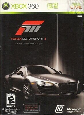 Forza Motorsport 3 -- Limited Collector's Edition (Microsoft Xbox 360, 2009)
