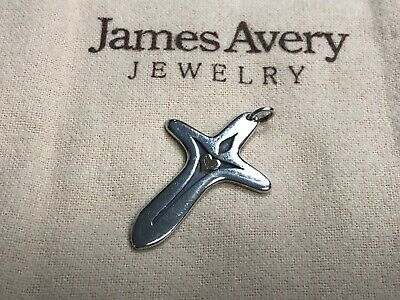 James Avery Retired Sterling & 14k Gold Heart Light of the World Cross Pendant