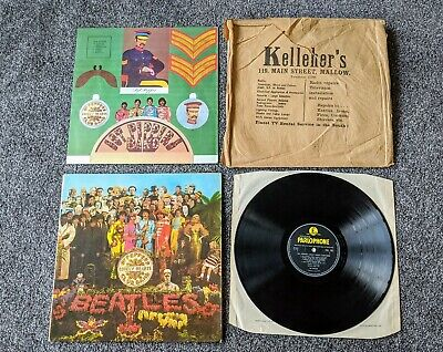 The Beatles 1967 Uk 1St Press Sgt Peppers Lonely Hearts Club Band +Export Sleeve