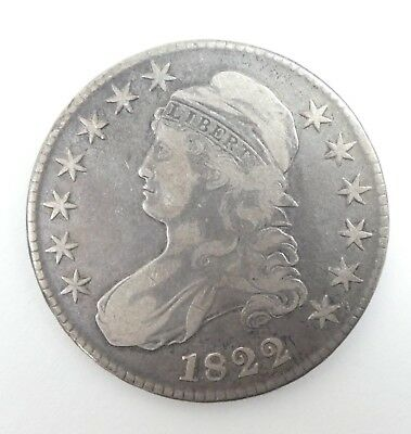 1822 Capped Bust/Lettered Edge Half Dollar VERY FINE Silver 50-Cents
