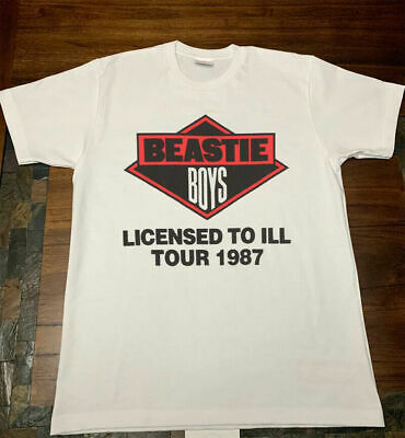 Beastie Boys-Licensed To Ill Tour 1987 White T-shirt RARE!!!