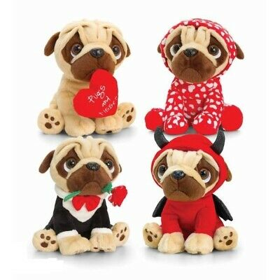 Soft Plush Cute Pug Dog Teddy Bear Valentines Day Love Birthday Anniversary Gift