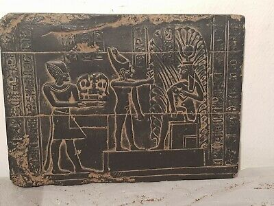 Rare Antique Ancient Egyptian Stela Goddess Isis Good Healty Cure 1279–1213 BC