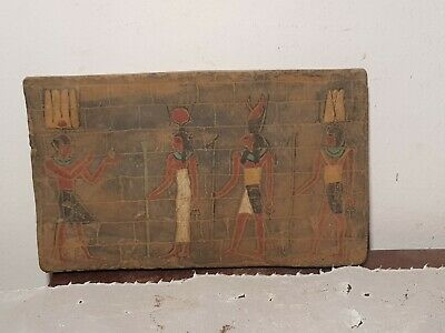 Rare Antique Ancient Egyptian Stela King Ramses Gods Isis Horus Amun1279–1213 BC
