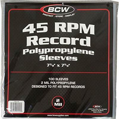 100 Vinyl 45 RPM 7 Record Poly Outer Sleeves 2 Mil New Electronics