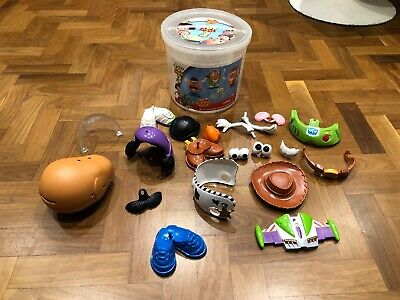 Disney Toy Story 3 Mr Potato Head Bucket Set Buzz Lightyear & Woody 20 Pieces