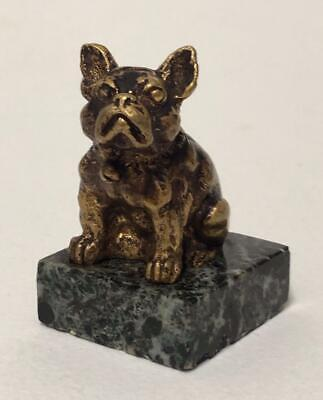 French Bulldog Art Deco  Bronze Sculpture by Georges Omerth French 1920s 1930s