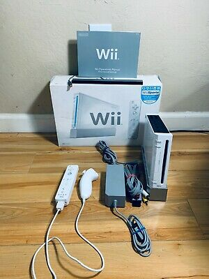 Black & White Nintendo Wii Console W/ Box. YOU CHOOSE COLOR. GREAT CONDITION.