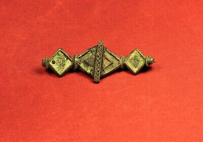 Fine Ancient Roman Enamelled Fibula or Brooch, 2. Century