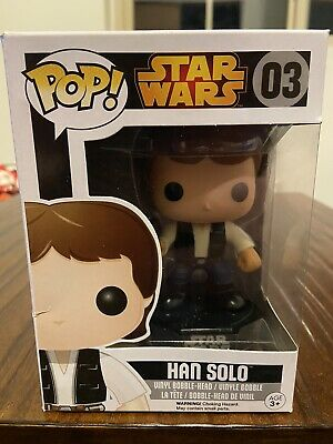 Funko Pop! Movies: Star Wars - Han Solo #03  Has Some Box Damage 7/10 Quality