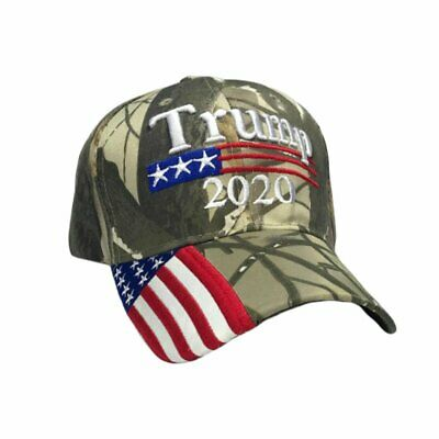 President Donald Trump 2020 Mossy Oak USA Cotton US American U.S.A.Flag Camo Hat