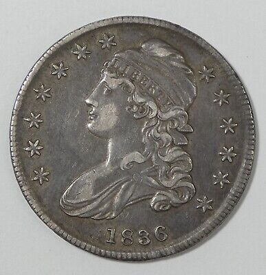 1836 Capped Bust/Lettered Edge Half Dollar XF (EXTRA FINE) Silver 50c