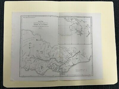Colony Of Victoria 1856 Sketch Map M580