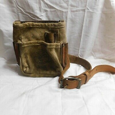 Klein Tools Large Leather Belt 5202L and Tool Pouch 5125