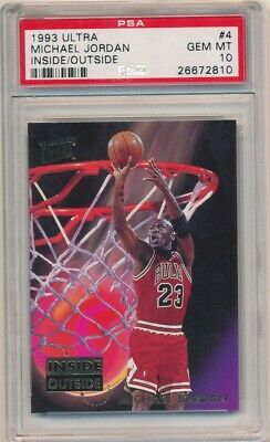 Michael Jordan 1993/94 Ultra #4 Inside Outside Chicago Bulls Sp Psa 10 Gem Mint