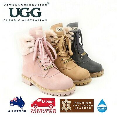 Ozwear Ugg Liliana Shearling Boots (Water Resistant) 3 Colours Ob376