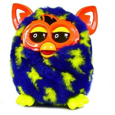 Furby Boom interactive Toy plush Purple with Yellow Spots & Orange Ear  - Works
