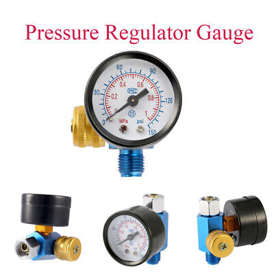 Air Pressure Regulator Paint Airbrush Adjustment Gauge Pressure Regulating/ N8Q2