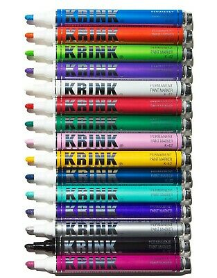 KRINK K42 4mm bullet tipped opaque permanant paint marker grog molotow copic mtn