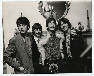 The Beatles. Press Photo 1967. Release Of Sgt Pepper's  Lonely Hearts Club Band