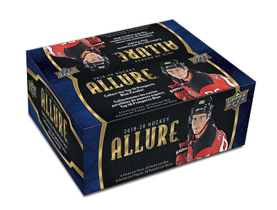 2019-20 Upper Deck ALLURE NHL Hockey Trading Cards New, Sealed Rtl 20pk Foil Box