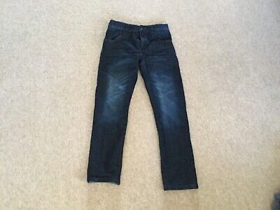 Boys Bluezoo twisted leg jeans age 10 dark blue