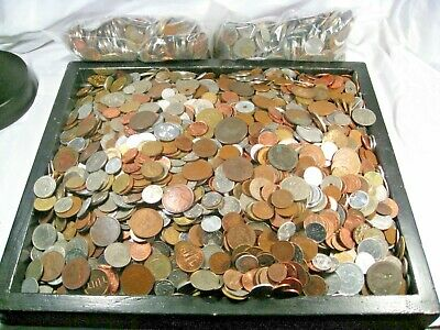 3 lbs (pounds) Bulk Foreign World Coins. Many Countries. 25 lots available