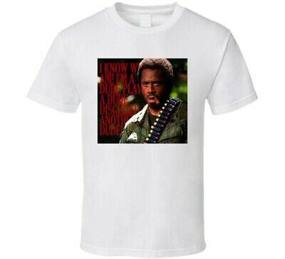 Tropic Thunder Movie PATCH Licensed Adult Heather T-Shirt All Sizes